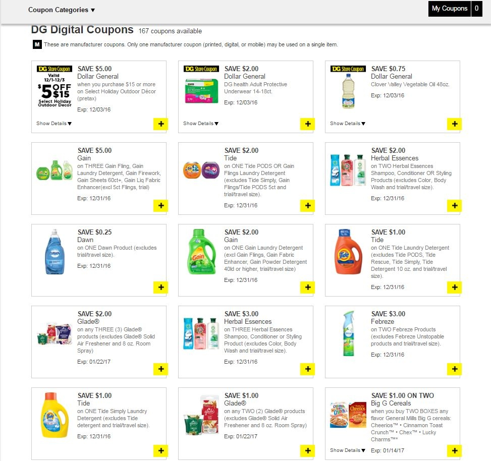 Dollar general coupon code