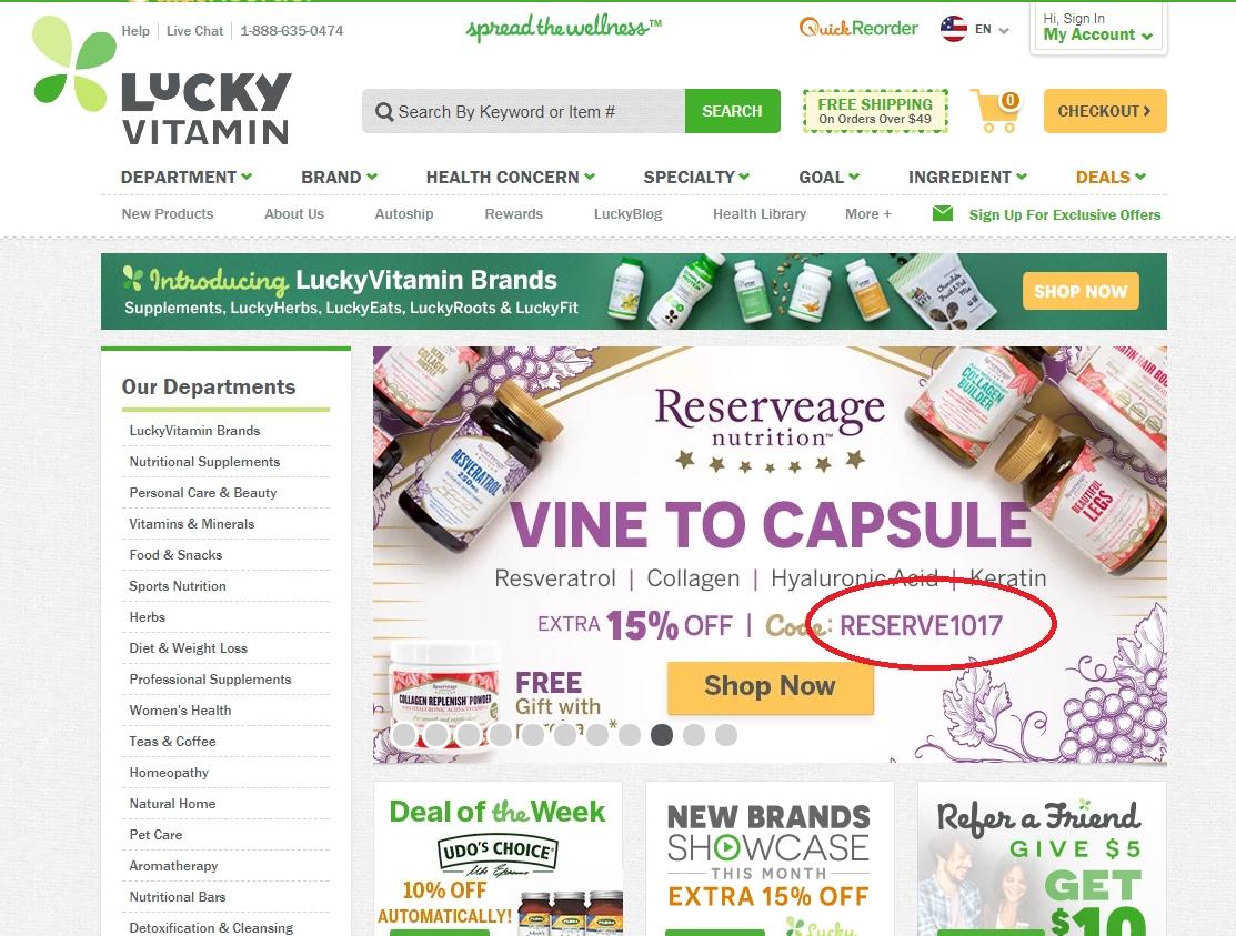 Luckyvitamin coupon code