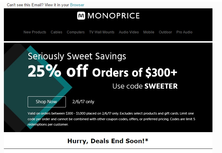 Monoprice Coupons, Sales & Promo Codes