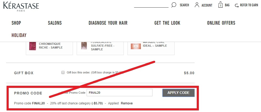 How to use a Kerastase Paris coupon Before shopping at Kerastase Paris, visit choreadz.ml to gather coupon codes that can be applied to your purchase. The available codes will vary week to week, but recent promotional offers have included things like free shipping and samples with orders of $85 or more and 20% off $