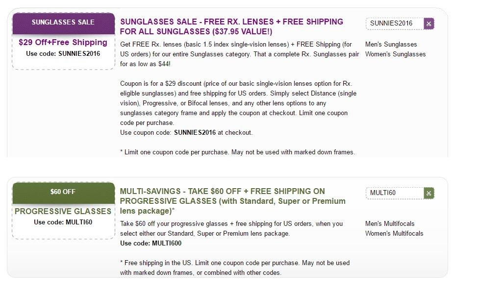 Glassesusa com coupon code