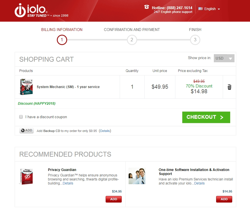 Iolo discount coupon