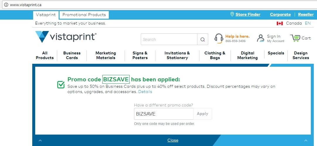 Vistaprint.ca shipping coupon codes