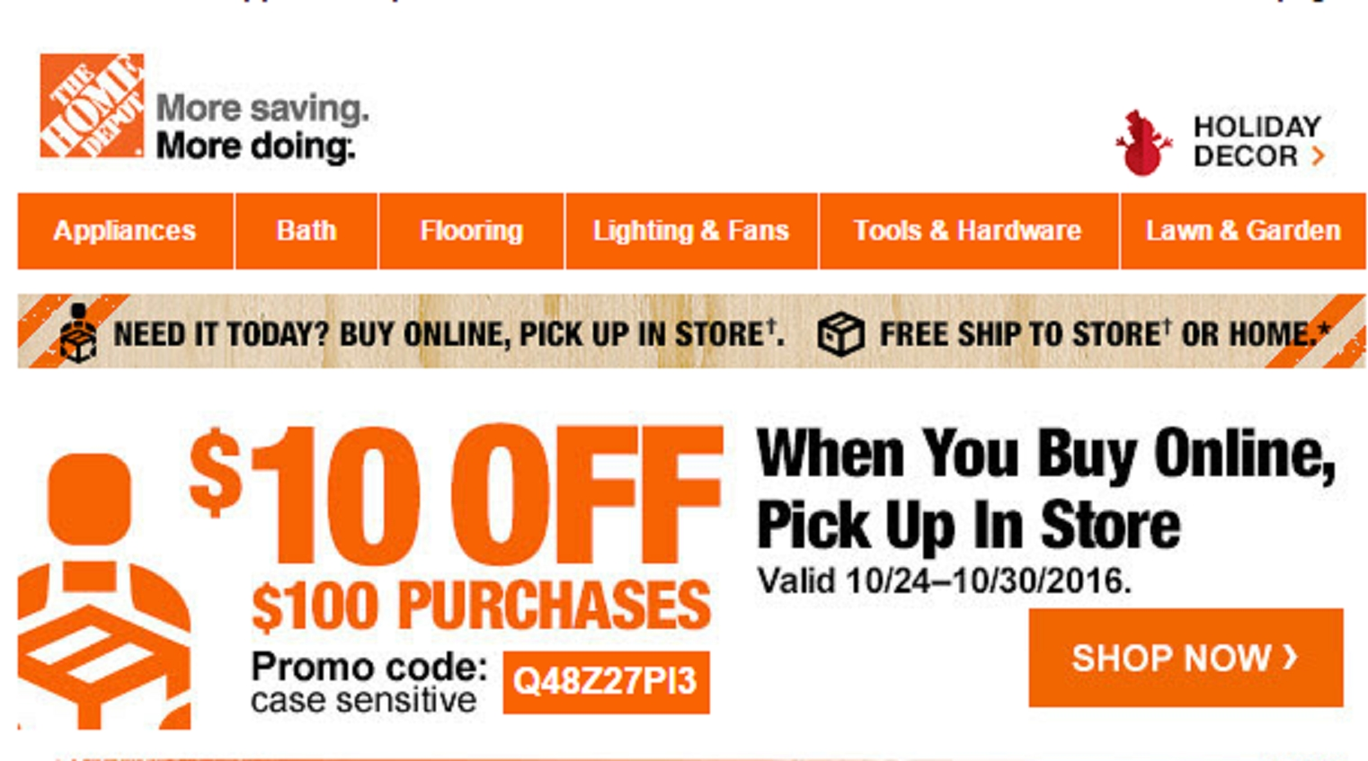 40 Off Home Depot Coupon Code Save 20 in Nov w Promo
