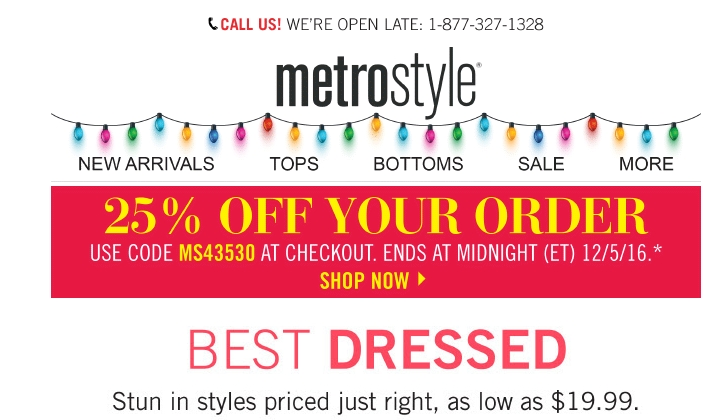 Metrostyle coupon codes