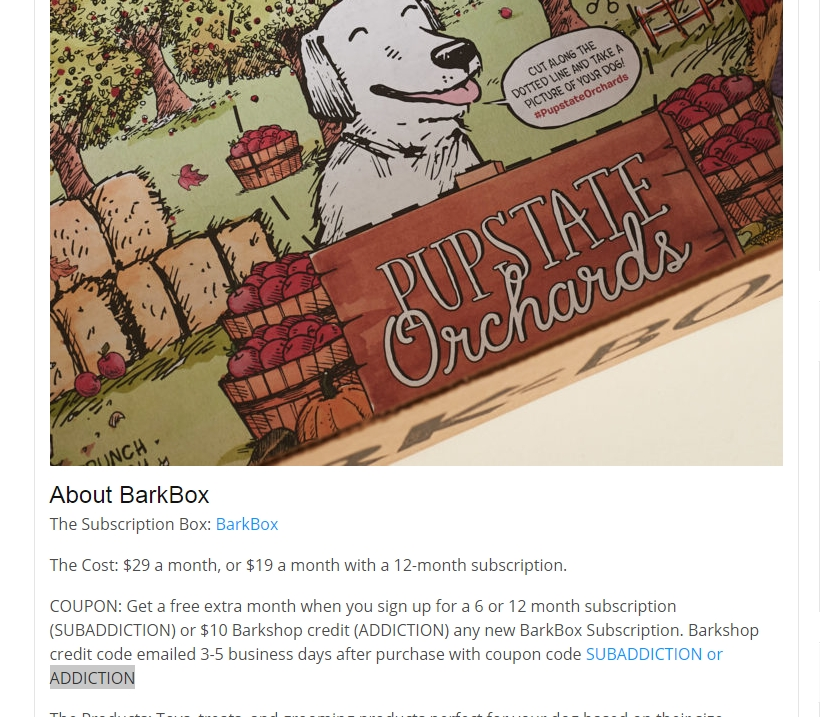 Barkbox coupon code