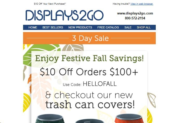 Displays to go coupon code