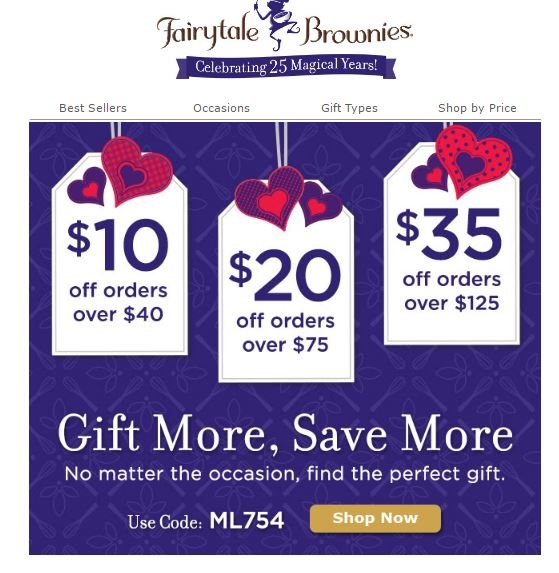 Coupon fairytale brownies