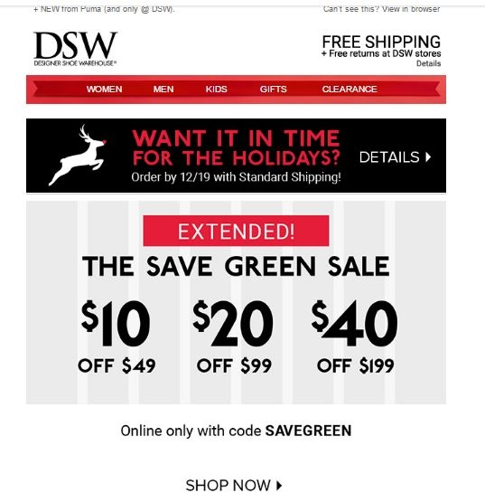 Dsw coupon code in store