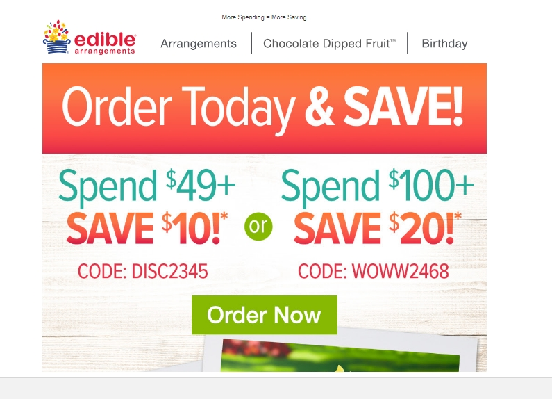 Edible arrangements coupon code 50 off