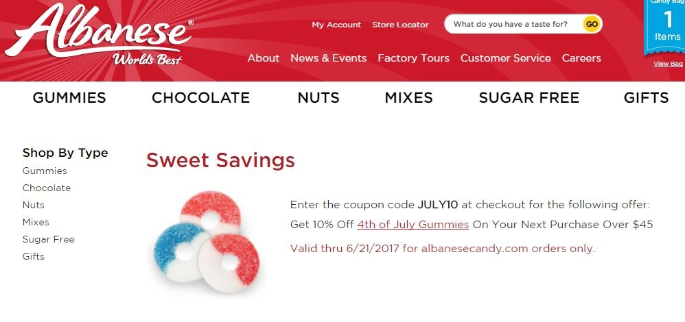 Albanese candy coupon printable
