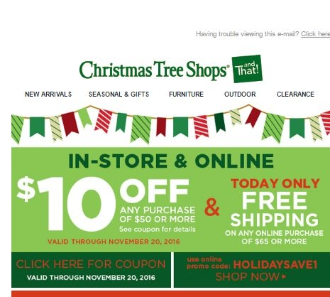 Christmas tree shop coupons november 2018 / Journeys printable ...