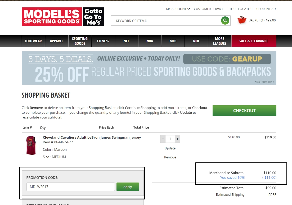 Modells coupon 20 off