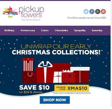Pickup Flowers Coupon Code & Deals Shop on weeny.tk 21 hottest Pickup Flowers coupon codes and sales in December are here for you. Well, today's star coupon is @ Pickup Flowers Coupon Code & Deals. Want more choices of discounts, have a little check on Discountscat! Imputing the Pickup Flowers promo code at the checkout with just.