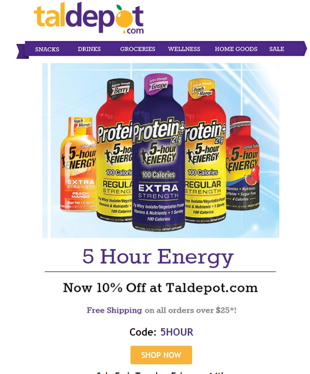 Tal depot coupon code
