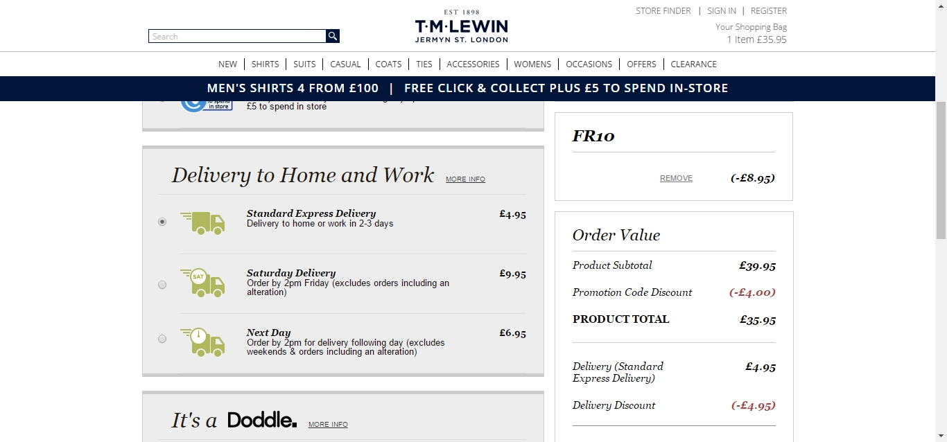 Tm lewin coupon code