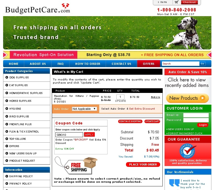 Branded dog supplies, dog parasite controllers, dog wormers & dog nutritional health care supplements for dogs and canines at affordable price. BudgetPetCare offers best .