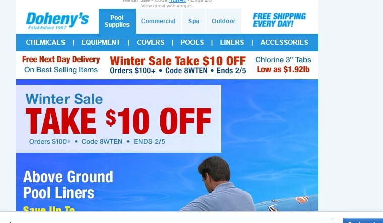 Doheny's Water Warehouse Coupon & Deal