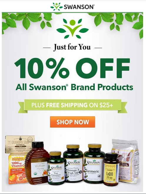 Swanson vitamins coupon code