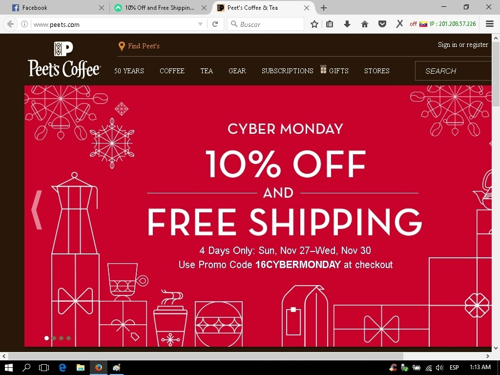How to use Peet's Coffee & Tea promo codes. Go to wxilkjkj.tk then select the items you wish to purchase and add them to your shopping cart.; Find a promo code on this page. Click to open the code, then click