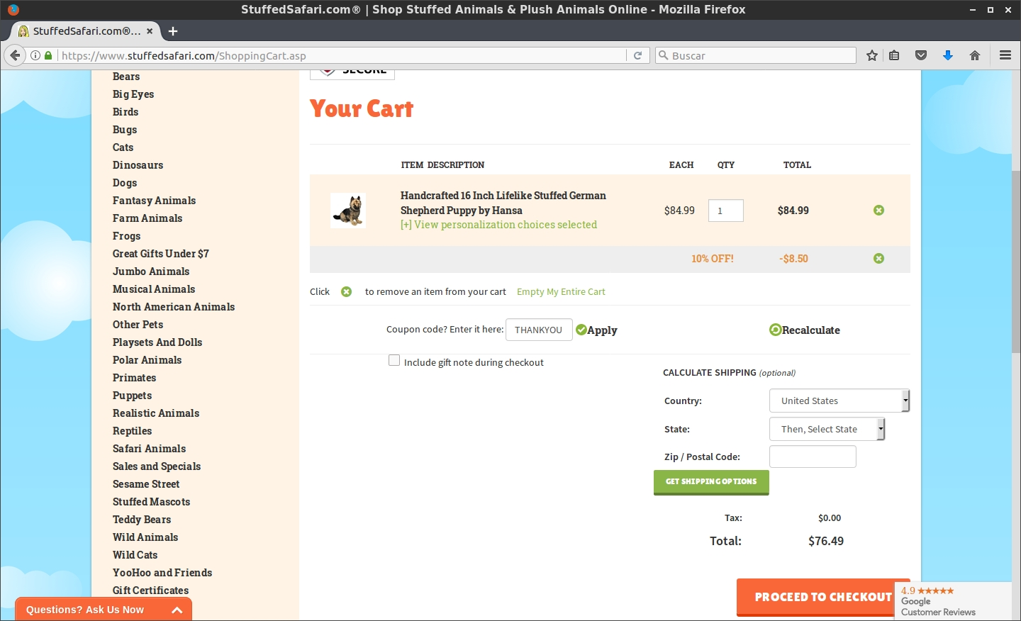 Stuffed safari coupon code. Stuffed Safari offers stuffed safari best coupon codes to its customers to ensure they get the best prices for the products that they get on stuffed safari stores. A customer with a stuffed safari best coupon codes can get amazing deals from stuffed safari stores for their products.