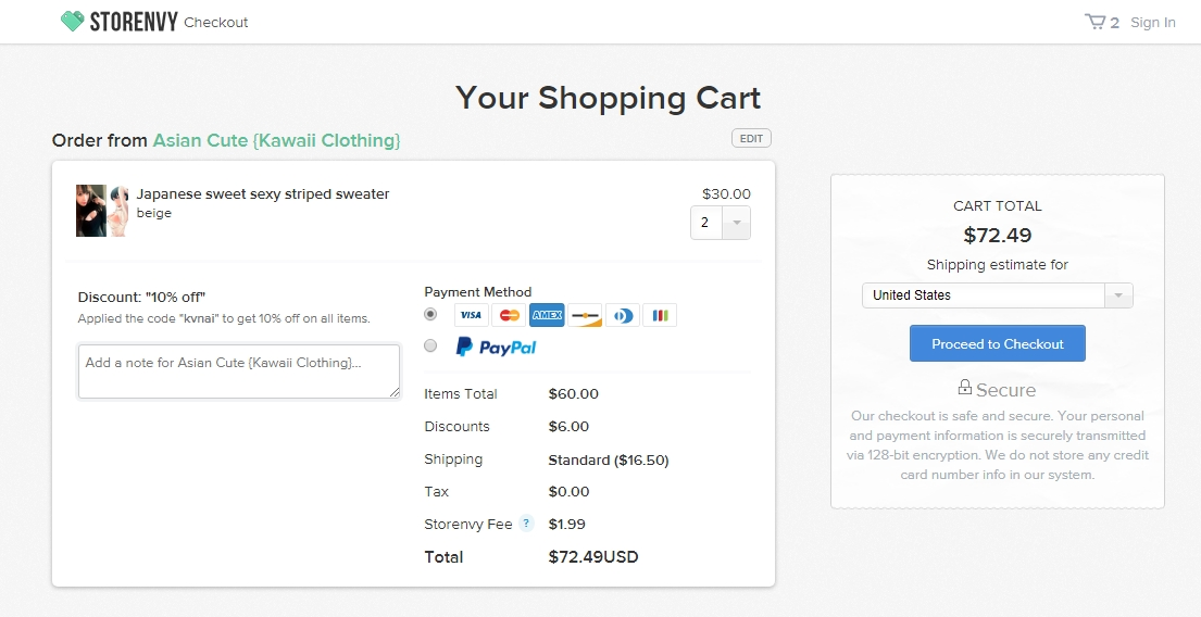 Storenvy coupon codes