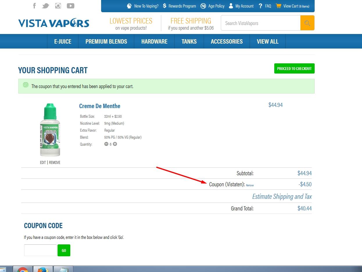 Vista vapors coupon code