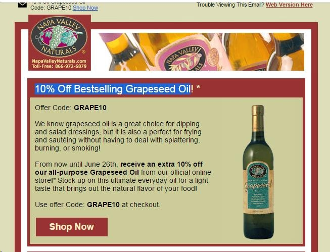 Napa coupon code