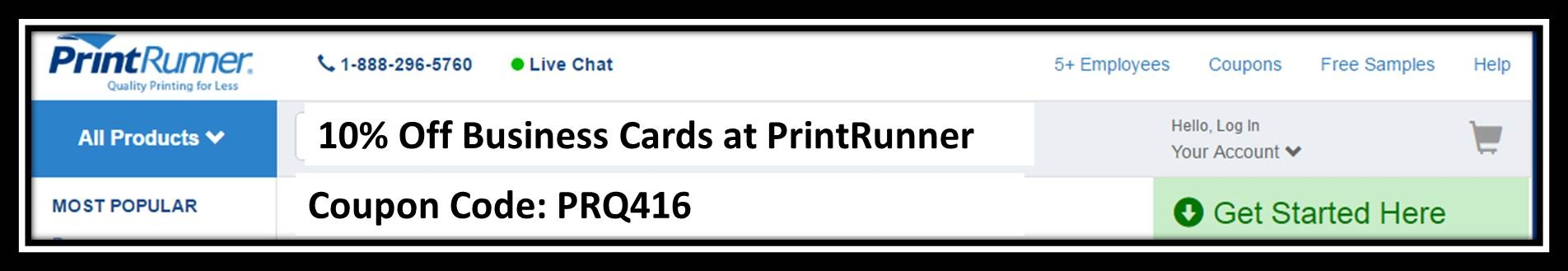 Print runner coupon code