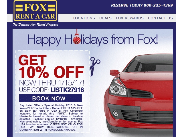 Fox coupon code