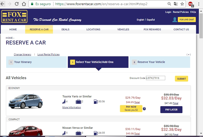 Car Rental In Vegas Coupon