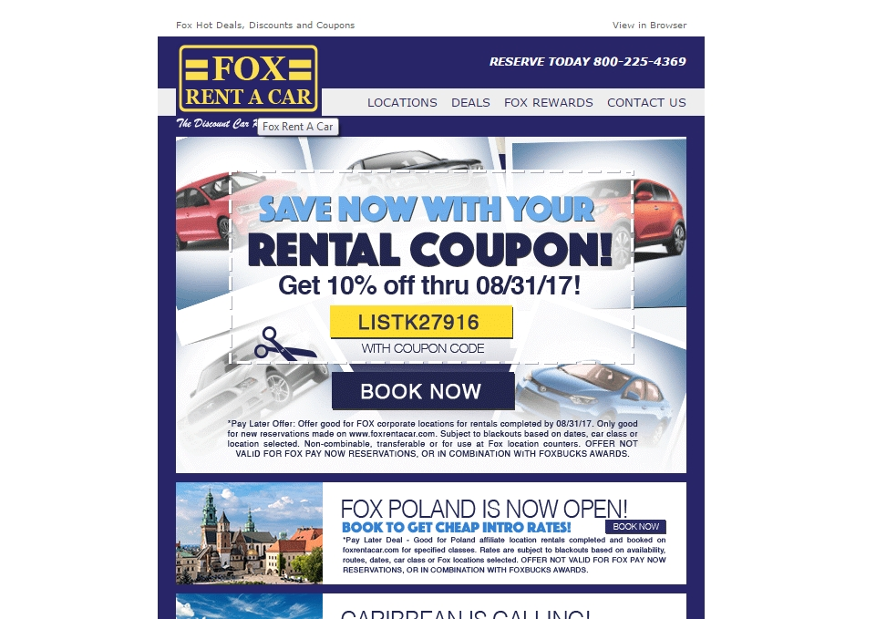 Oct 04,  · Find car rental deals within your budget with the best Fox Car Rental coupons. Corporate discount program Individual corporate customers can get a 5% standard discount.