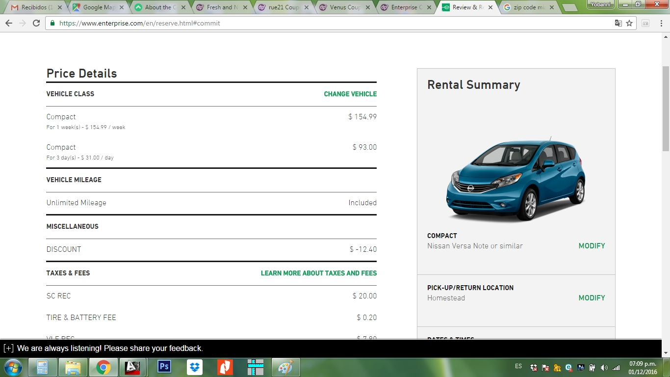 Rental car coupon code