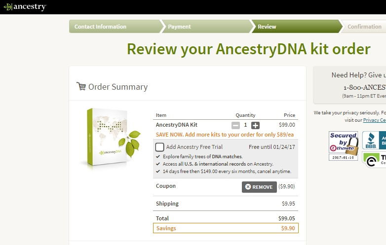 Coupon code dna test ancestry