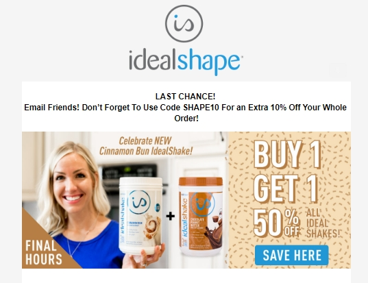 Idealshape coupon code