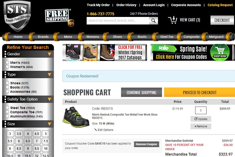 Coupon Codes For Steel Toe Shoes Com