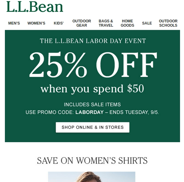 Ll bean coupon promo code