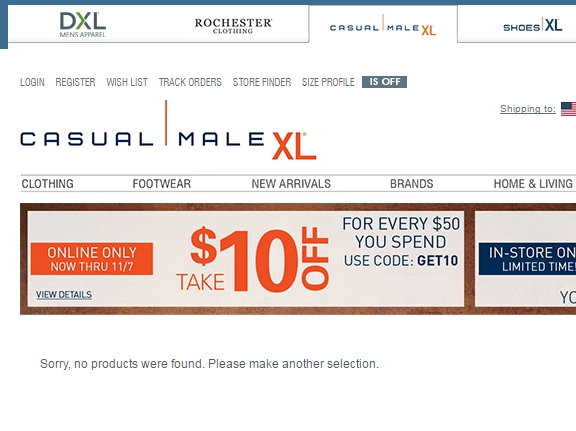 Casual male coupons