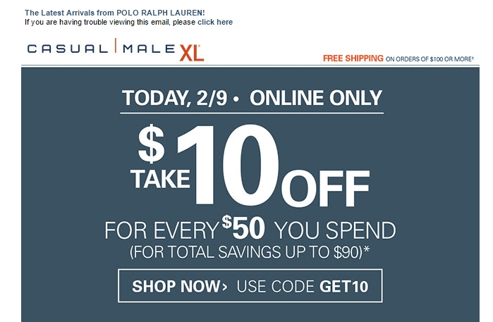 Destination XL Coupon Codes and Promo Codes | The Coupon Scoop.