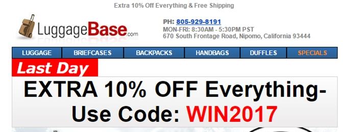 Luggagebase.com Promo Code 2018 - Dealspotr