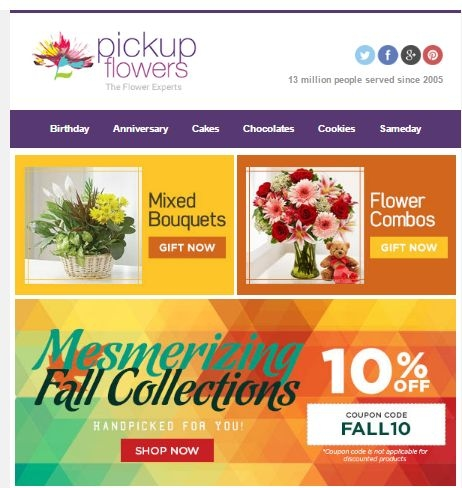 Head on over to Pickup Flowers and choose from a multitude of amazing floral arrangements. There you can choose from beautiful flower bouquets, arrangements, and .