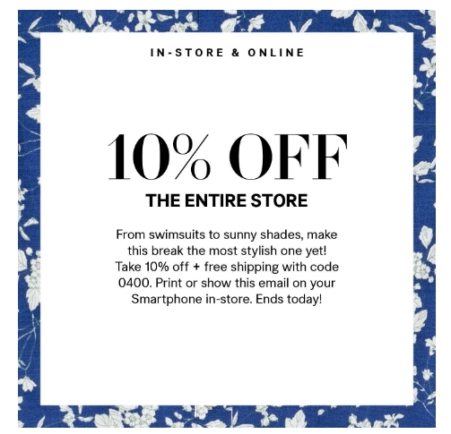 H and m coupon code