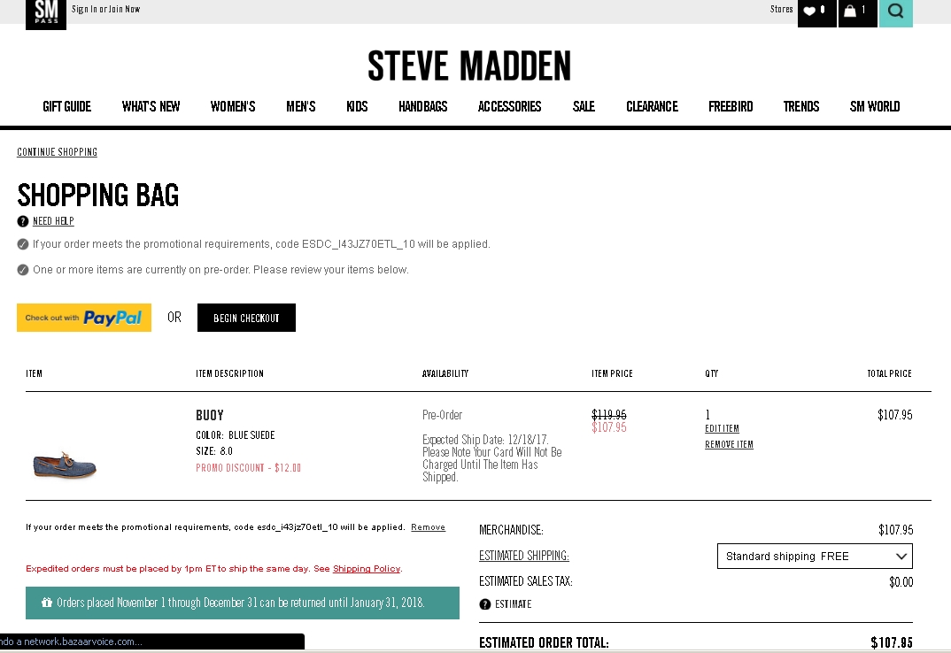 Steve madden coupon code