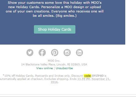Moo.com coupon code