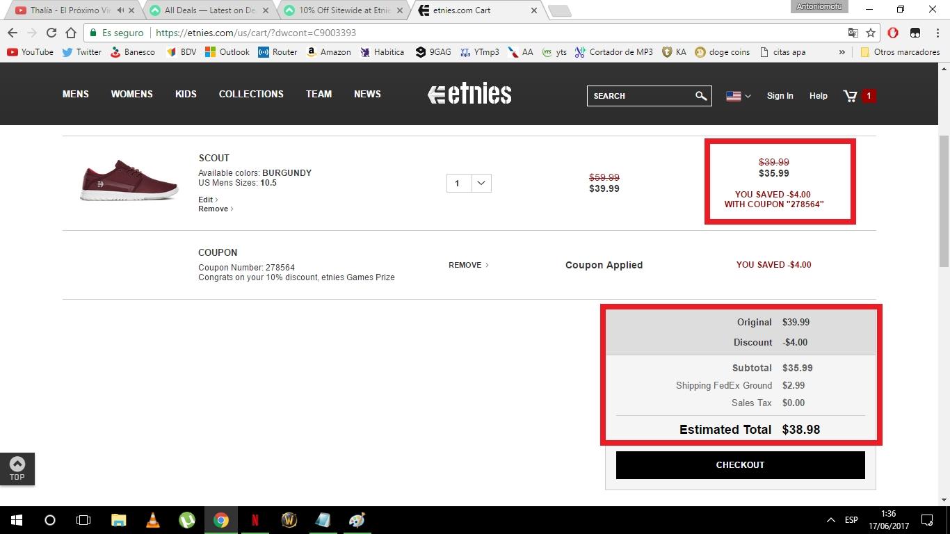 Etnies coupon code
