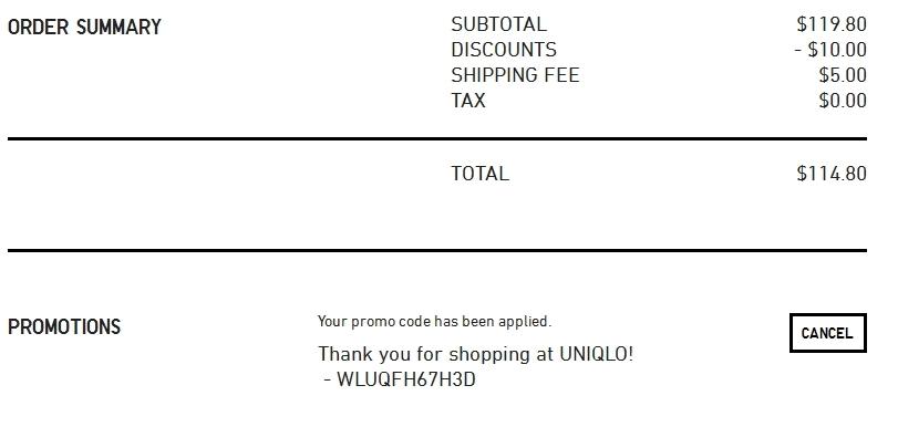 Uniqlo coupon codes