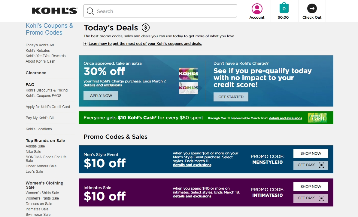 Kohl's $10 off coupon august 2018