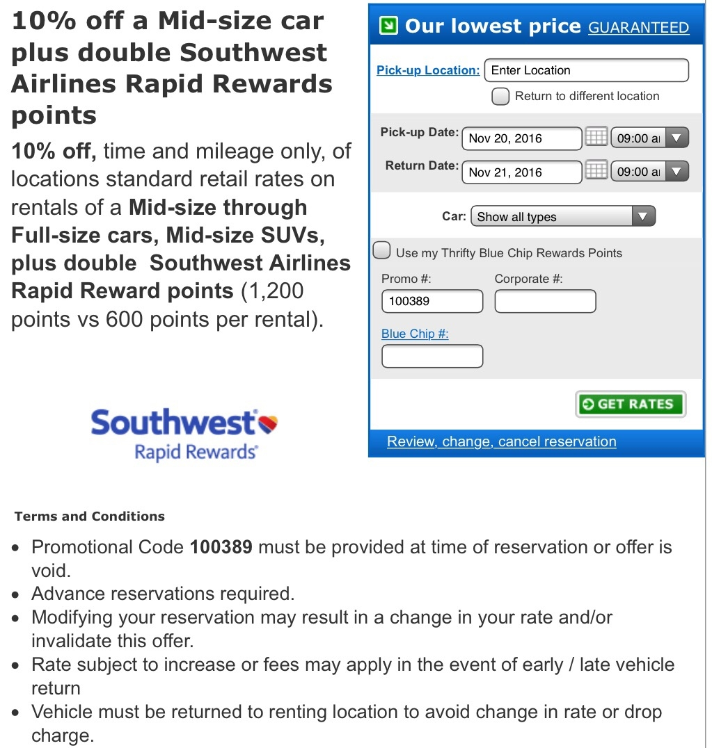 saiholtiorgot.tk airlines enrollment hot promo codes is required for this promotion. Snatch up your savings before they are gone. Enjoy 10% Off Base Rates With Dollar Rent A Car & Thrifty + Earn 1, Rapid Rewards Points.