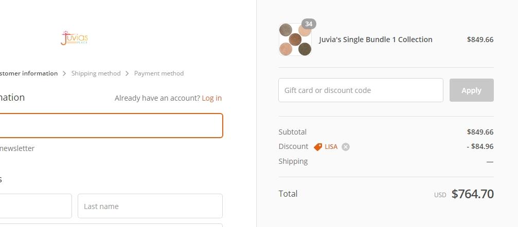 Juvias place coupon code