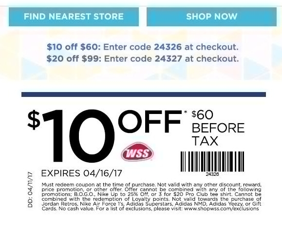 Wss coupon 2018
